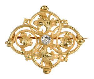 Antique French 18kt. Diamond Brooch