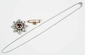 Antique Ruby and Diamond Pendant