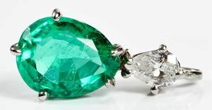 18kt. Emerald Pendant Retailed by Garrard & Co.
