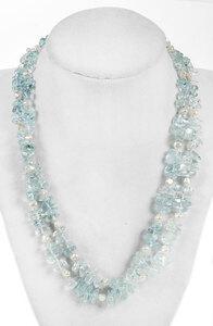 14kt. Aquamarine Bead Necklace