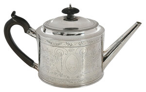 George III English Silver Teapot