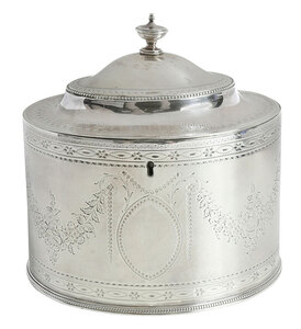 George III English Silver Tea Caddy