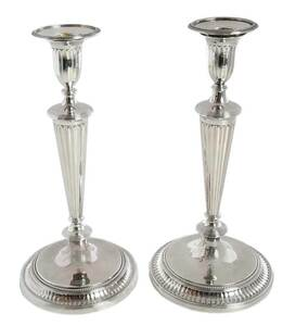 George III English Silver Candlesticks