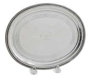 George III English Silver Teapot Stand