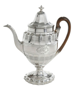 George III English Silver Pot
