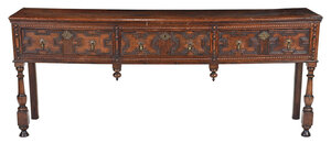 William and Mary Style Oak Three Drawer Server