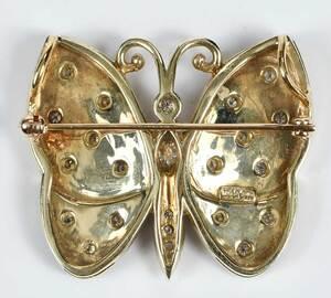 14kt. Diamond Butterfly Brooch