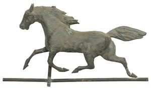 Full Bodied Trotting Horse Weathervane