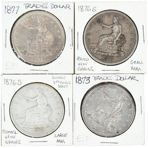 Four Trade Dollars