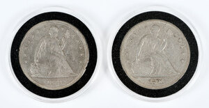 Two Seated Liberty Dollars