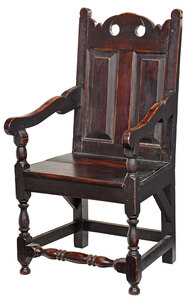 Early American Turned and Joined Walnut Armchair