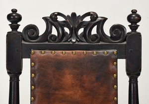 William and Mary Leather Upholstered Side Chair