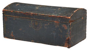 American Pine Painted Dome Top Trunk