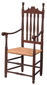 American William and Mary Bannister Back Armchair