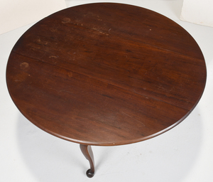 American Queen Anne Mahogany Drop Leaf Table