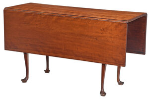 American Queen Anne Cherry Drop Leaf Dining Table