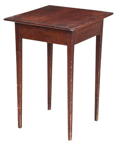 American Federal Pine Side Table
