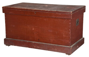 American Red Painted Cedar Lined Chest