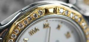 Cyma 18kt., Stainless Steel and Diamond Watch
