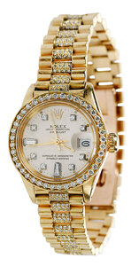 Rolex 18kt. Diamond Watch