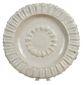Continental Tin Glazed Earthenware White Charger