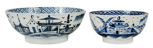 Two British Blue and White Pearlware Bowls