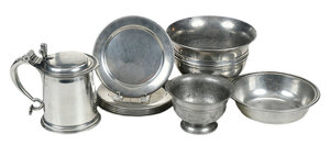 19 Pieces Assorted Pewter and Plated Metalware