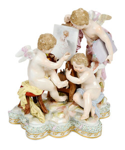 Meissen Figural Group Representing the Arts