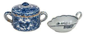Delft Blue and White Lidded Jar, Sauce Boat
