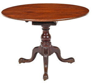 Large Scale Chippendale Carved Mahogany Tea Table
