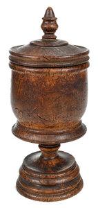 Lidded Burlwood Wassail Cup