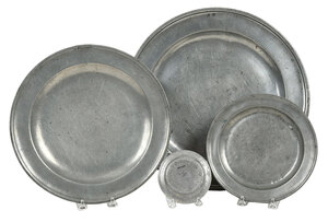 Group of 11 Pewter Dishes