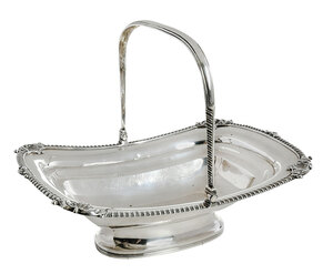 George III English Silver Basket