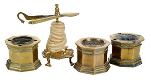 Four Brass Desk Articles