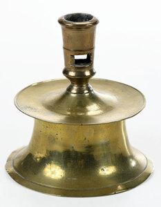 A North European Brass Capstan Candlestick