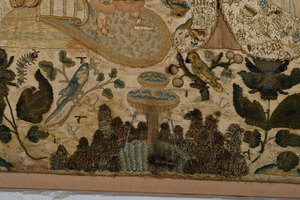 Charles II Silk Raised Biblical Needlework
