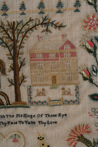 Regency Wool and Silk Embroidery, Adam and Eve