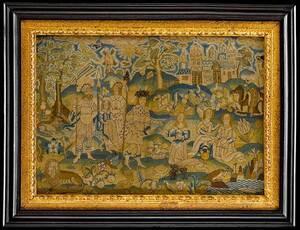 Charles II Wool and Canvas Needlework