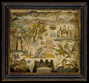 Charles II Silk and Wool Biblical Needlework