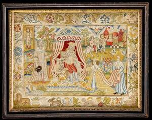 Charles II Silk and Canvas Needlework
