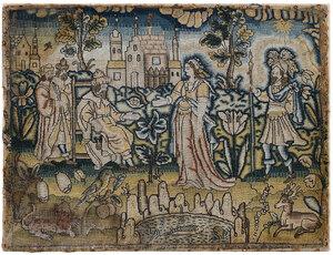 Charles II Silk Biblical Needlework