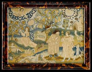 Charles II Silk and Canvas Work