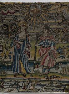 Rare New Testament 17th Century Needlework