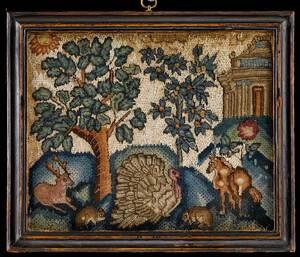 Queen Anne Silk and Wool Needlework