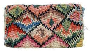 American 18th Century Wool and Silk Wallet