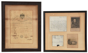 1821 John Quincy Adams Signed Passport