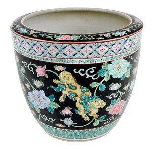 Chinese Famille Noir Porcelain Planter