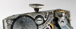 Croton Platinum Diamond Watch