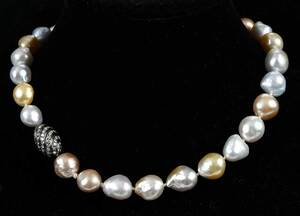 Pearl Necklace with 18kt. Diamond Clasp