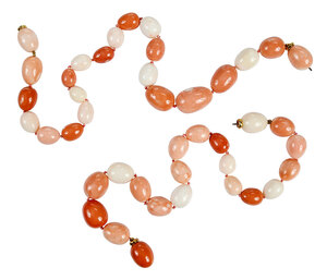 Two 18kt. Coral Necklaces